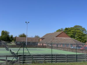 Blakeney Tennis Courts looking North West