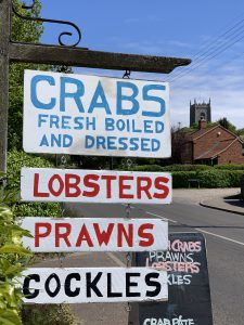 Crabs For Sale on New Road, Blakeney