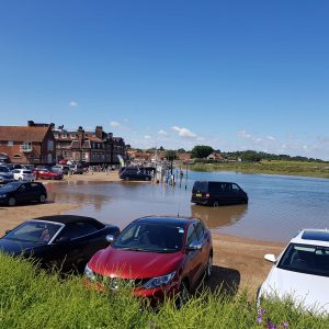 Beware of tide when using Carnser car park