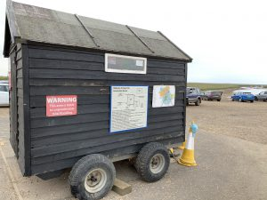 The pay and display hut at Carnser Car Park