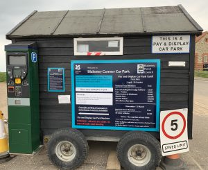 Carnser Car Park Pay and Display Machine on hut