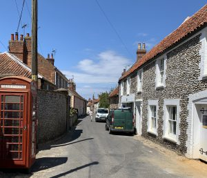 High Street looking North by Telephone Box