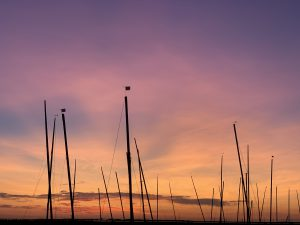 Sunset over Dinghy Park