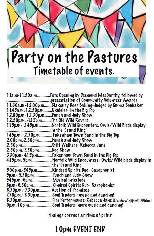 Timetable Party On The Pastures 2019