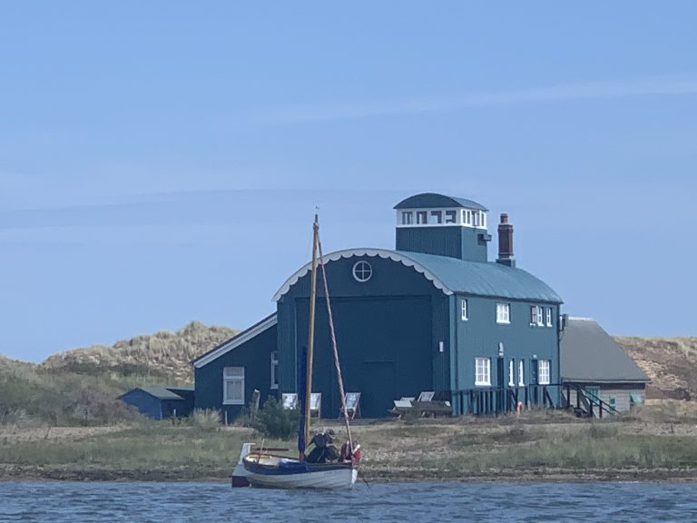 Blakeney Lifeboat House on Blakeney Point