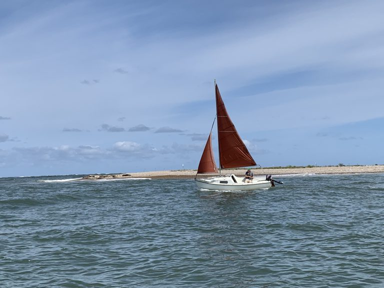 Sailing at Blakeney Point
