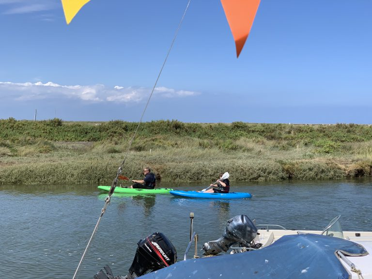 Kayaks at Blakeney Quay