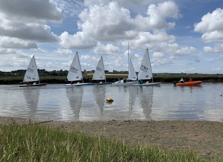 Towing sailing boats up the New Cut