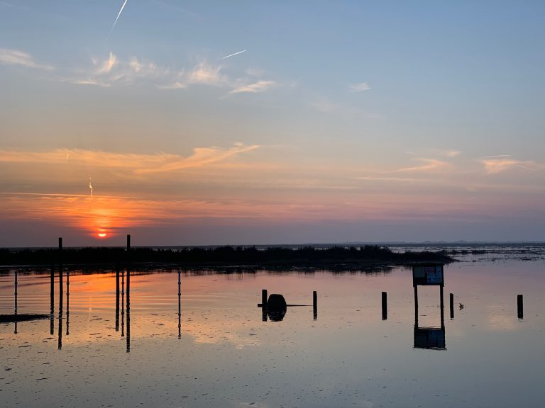 Sunset over Blakeney quay