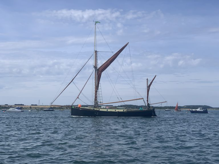 Juno at its mooring in Blakeney Harbour