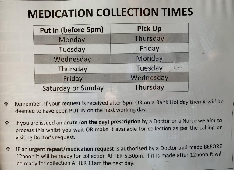 Medication Collection Times