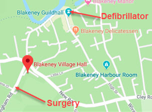 Blakeney Emergency Map