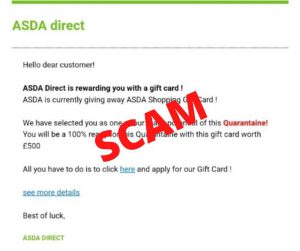 20200415 supermarket email and social media scam